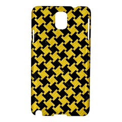 Houndstooth2 Black Marble & Yellow Colored Pencil Samsung Galaxy Note 3 N9005 Hardshell Case