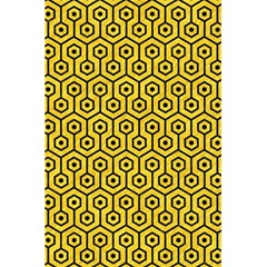Hexagon1 Black Marble & Yellow Colored Pencil 5 5  X 8 5  Notebooks by trendistuff