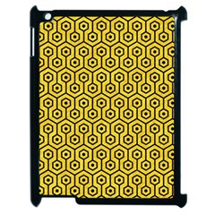 Hexagon1 Black Marble & Yellow Colored Pencil Apple Ipad 2 Case (black) by trendistuff