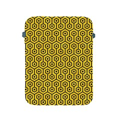 Hexagon1 Black Marble & Yellow Colored Pencil Apple Ipad 2/3/4 Protective Soft Cases by trendistuff