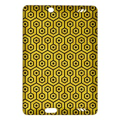 Hexagon1 Black Marble & Yellow Colored Pencil Amazon Kindle Fire Hd (2013) Hardshell Case by trendistuff