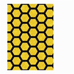 Hexagon2 Black Marble & Yellow Colored Pencil Small Garden Flag (two Sides) by trendistuff