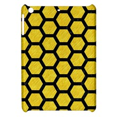 Hexagon2 Black Marble & Yellow Colored Pencil Apple Ipad Mini Hardshell Case by trendistuff