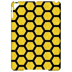 Hexagon2 Black Marble & Yellow Colored Pencil Apple Ipad Pro 9 7   Hardshell Case by trendistuff