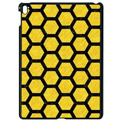Hexagon2 Black Marble & Yellow Colored Pencil Apple Ipad Pro 9 7   Black Seamless Case by trendistuff