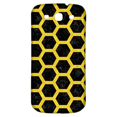 Hexagon2 Black Marble & Yellow Colored Pencil (r) Samsung Galaxy S3 S Iii Classic Hardshell Back Case by trendistuff