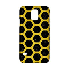 Hexagon2 Black Marble & Yellow Colored Pencil (r) Samsung Galaxy S5 Hardshell Case  by trendistuff