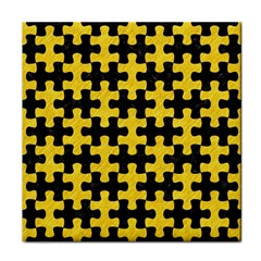 Puzzle1 Black Marble & Yellow Colored Pencil Face Towel by trendistuff