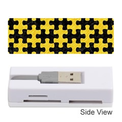 Puzzle1 Black Marble & Yellow Colored Pencil Memory Card Reader (stick)  by trendistuff
