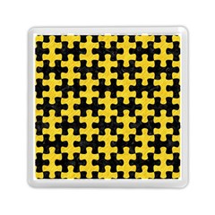 Puzzle1 Black Marble & Yellow Colored Pencil Memory Card Reader (square)  by trendistuff