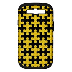 Puzzle1 Black Marble & Yellow Colored Pencil Samsung Galaxy S Iii Hardshell Case (pc+silicone) by trendistuff
