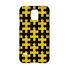 Puzzle1 Black Marble & Yellow Colored Pencil Samsung Galaxy S5 Hardshell Case  by trendistuff