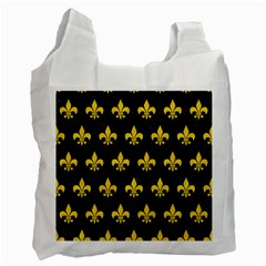 Royal1 Black Marble & Yellow Colored Pencil Recycle Bag (one Side) by trendistuff