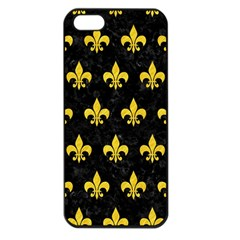 Royal1 Black Marble & Yellow Colored Pencil Apple Iphone 5 Seamless Case (black) by trendistuff