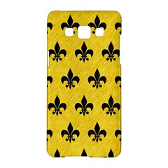 Royal1 Black Marble & Yellow Colored Pencil (r) Samsung Galaxy A5 Hardshell Case  by trendistuff