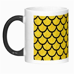 Scales1 Black Marble & Yellow Colored Pencil Morph Mugs by trendistuff