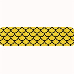 Scales1 Black Marble & Yellow Colored Pencil Large Bar Mats by trendistuff
