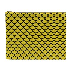 Scales1 Black Marble & Yellow Colored Pencil Cosmetic Bag (xl) by trendistuff