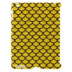 Scales1 Black Marble & Yellow Colored Pencil Apple Ipad 3/4 Hardshell Case (compatible With Smart Cover)