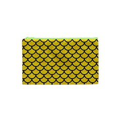 Scales1 Black Marble & Yellow Colored Pencil Cosmetic Bag (xs) by trendistuff