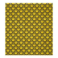 Scales2 Black Marble & Yellow Colored Pencil Shower Curtain 66  X 72  (large)  by trendistuff