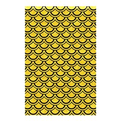 Scales2 Black Marble & Yellow Colored Pencil Shower Curtain 48  X 72  (small)  by trendistuff