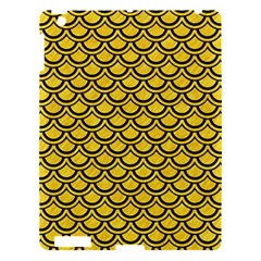 Scales2 Black Marble & Yellow Colored Pencil Apple Ipad 3/4 Hardshell Case by trendistuff