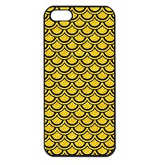 Scales2 Black Marble & Yellow Colored Pencil Apple Iphone 5 Seamless Case (black) by trendistuff