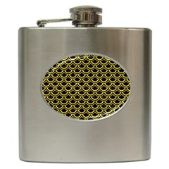 Scales2 Black Marble & Yellow Colored Pencil (r) Hip Flask (6 Oz) by trendistuff
