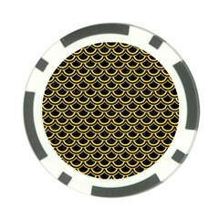 Scales2 Black Marble & Yellow Colored Pencil (r) Poker Chip Card Guard (10 Pack) by trendistuff