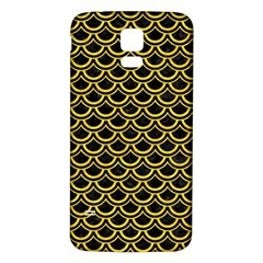 Scales2 Black Marble & Yellow Colored Pencil (r) Samsung Galaxy S5 Back Case (white)