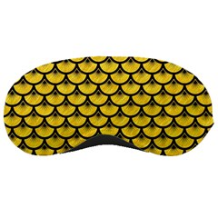 Scales3 Black Marble & Yellow Colored Pencil Sleeping Masks by trendistuff