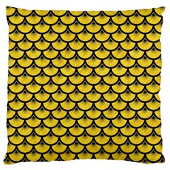 Scales3 Black Marble & Yellow Colored Pencil Large Cushion Case (one Side) by trendistuff