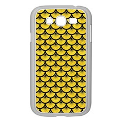 Scales3 Black Marble & Yellow Colored Pencil Samsung Galaxy Grand Duos I9082 Case (white) by trendistuff