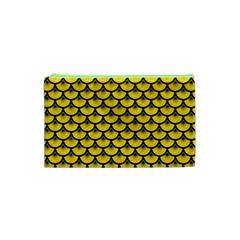 Scales3 Black Marble & Yellow Colored Pencil Cosmetic Bag (xs) by trendistuff