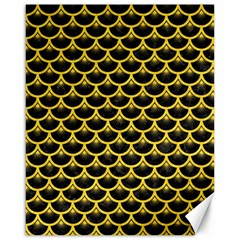 Scales3 Black Marble & Yellow Colored Pencil (r) Canvas 16  X 20
