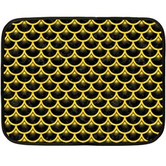Scales3 Black Marble & Yellow Colored Pencil (r) Fleece Blanket (mini) by trendistuff
