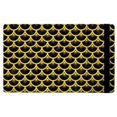 Scales3 Black Marble & Yellow Colored Pencil (r) Apple Ipad 2 Flip Case