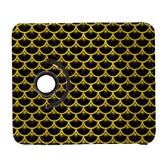 Scales3 Black Marble & Yellow Colored Pencil (r) Galaxy S3 (flip/folio) by trendistuff