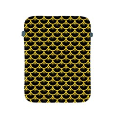 Scales3 Black Marble & Yellow Colored Pencil (r) Apple Ipad 2/3/4 Protective Soft Cases by trendistuff