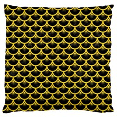 Scales3 Black Marble & Yellow Colored Pencil (r) Standard Flano Cushion Case (one Side) by trendistuff