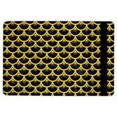 Scales3 Black Marble & Yellow Colored Pencil (r) Ipad Air 2 Flip by trendistuff