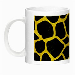 Skin1 Black Marble & Yellow Colored Pencil Night Luminous Mugs by trendistuff