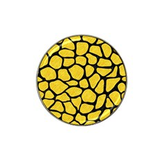 Skin1 Black Marble & Yellow Colored Pencil (r) Hat Clip Ball Marker (4 Pack) by trendistuff