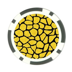 Skin1 Black Marble & Yellow Colored Pencil (r) Poker Chip Card Guard (10 Pack) by trendistuff