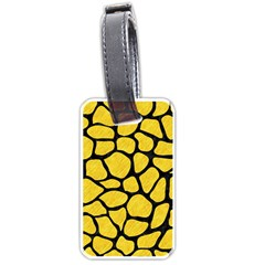 Skin1 Black Marble & Yellow Colored Pencil (r) Luggage Tags (two Sides) by trendistuff