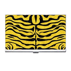 Skin2 Black Marble & Yellow Colored Pencil Business Card Holders by trendistuff