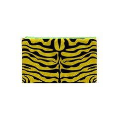 Skin2 Black Marble & Yellow Colored Pencil Cosmetic Bag (xs) by trendistuff