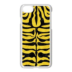 Skin2 Black Marble & Yellow Colored Pencil Apple Iphone 8 Seamless Case (white) by trendistuff