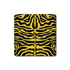 Skin2 Black Marble & Yellow Colored Pencil (r) Square Magnet by trendistuff